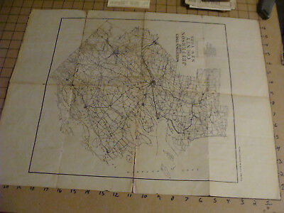 orig 1913 MAP of JEFFERSON COUNTY NEW YORK - watertown times -  torn as shown