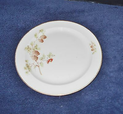 TAYLOR SMITH TAYLOR  PINE CONE & BERRIES SALAD or BREAD PLATE 8 1/4 DIAMETER