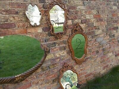 French Vintage Elaborate Carved Wooden Mirror T20/12,13,14