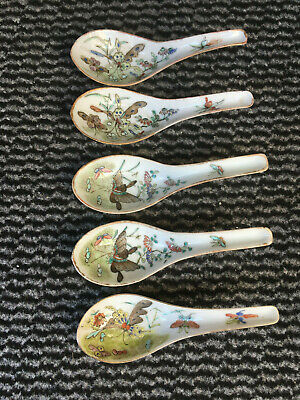 Antique Chinese Porcelain Spoons.Dynastie Qing.