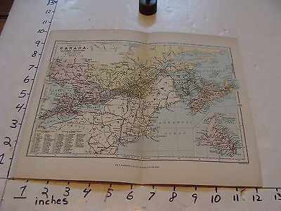 vintage map CANADA double sided w & r chambers limited
