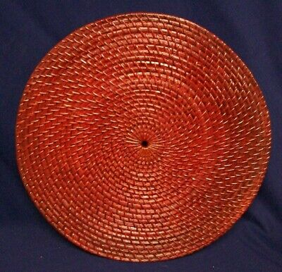 Restaurant Equipment Bar Supplies EXTRA LARGE ROUND DARK RED WEAVE TRIVET