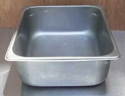"Restaurant Equipment Bar Supplies HALF SIZE STAINLESS FOOD STEAM PAN 7QT 4"" DEEP"