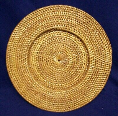 Restaurant Equipment Bar Supplies ROUND BROWN BASKET WEAVE TRIVET W/ INSET