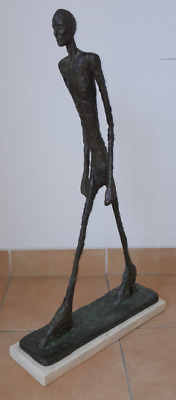 "Bronze Sculpture ""Walking Man"" Giacometti Figurine Figure"