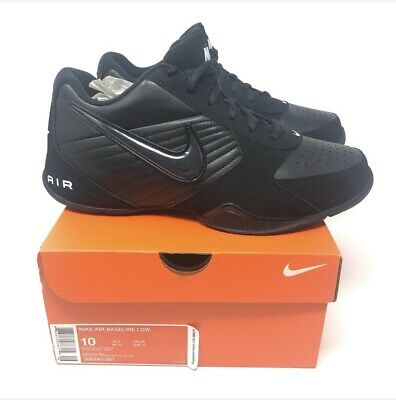 74082f1437e Nike Air Baseline Low Mens Basketball Shoes Black 386240-001 New In Box  Size 10