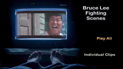 DVD - Bruce Lee Fighting Scenes, Fighting Clips Only, Bruce Lee, Skip The Plots.