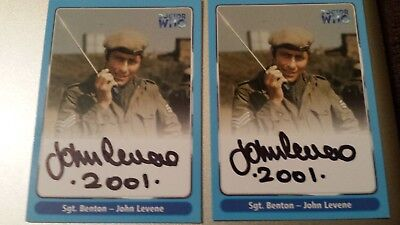 Doctor Dr Who Trading Card. Hand Signed Autograph RARE & MINT John Levene