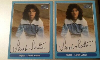 Doctor Dr Who Trading Card. Hand Signed Autograph RARE & MINT Sarah Sutton