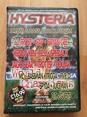 Rare Hysteria 21 World Cup 1998 Jungle / Drum & Bass Rave Tape Pack