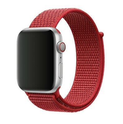 Apple Watch Sport Loop Band Nylon Armband rot 42mm 44mm ähnlich Product Red