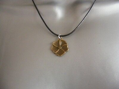 vintage brass style pendant necklace flower/tool/key