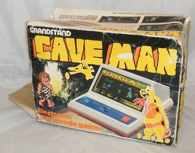 ★ GRANDSTAND TOMY CAVEMAN - Electronic Game LSI Tabletop 1982 v2 ★