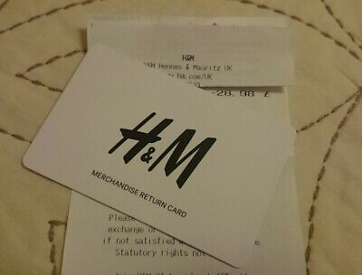 H&M £28.98 Gift card - Issued February 2019 New & unscratched