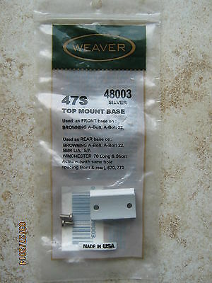 Weaver Browing A-Bolt Ruger M44 Scope Mount #47