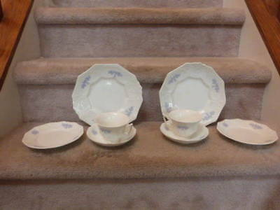 8 ANTIQUE VINTAGE Chelsea Grandmother's Ware Adderely  Grape Plate Cup Saucer
