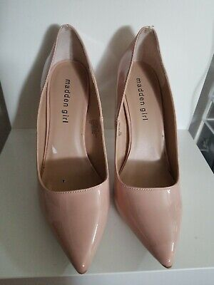 """3a555d6f3a1 MADDEN GIRL OHNICE Blush Pump Pointed Toe 4"""" Inch Heel Size 7.5"""