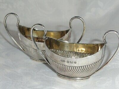 2 Vintage Sterling Silver Sauce Boat  Dishes Copper Brothers & Sons 1957 / 76 g
