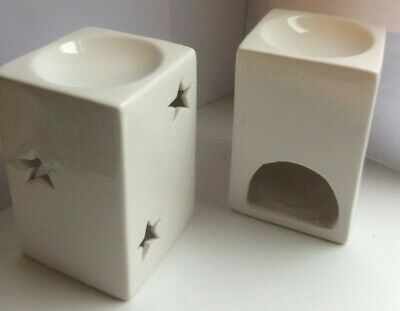 4 X Ceramic White Oil Burner with free Wax melts - Various Fragrances