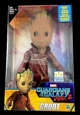 """Marvel Hasbro Guardians Of The Galaxy Vol 2 Baby Groot 10"""" Ravager Outfit Nip"""