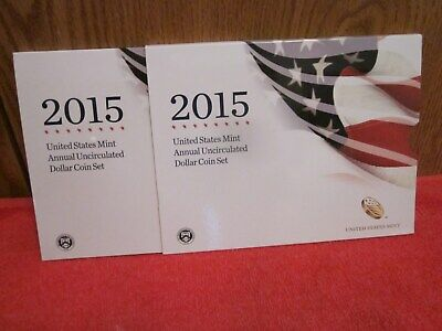 2015 US MINT ANNUAL UNCIRCULATED DOLLAR COIN SET w/Burnished Eagle - Low Mintage