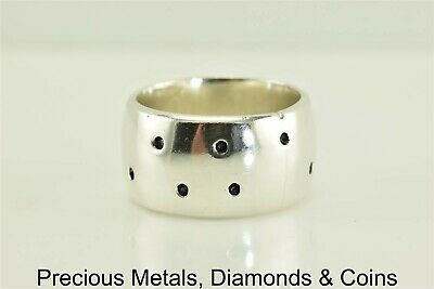 ec4df425f580a PLAIN FLAT CIGAR Band Ring 925 Sterling Silver Graduated Simple Huge ...