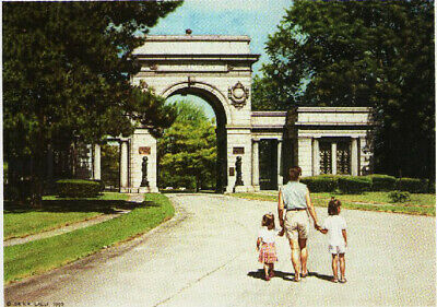 Postcard Dr Roger Lalli My City Buffalo Collection Print 35 FOREST LAWN CEMETARY