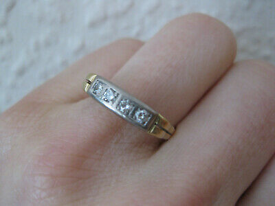 schöner antiker Ring Goldring Diamanten Gr. 55 Gold 585 Vintage Diamantring