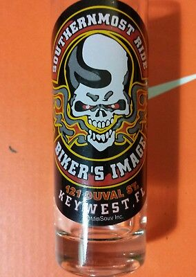 Bikers Image Southern Most Motorcycle Ride Key West Florida Tall Shot Glass
