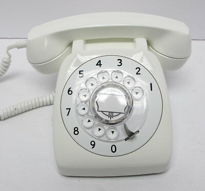 White Automatic Electric 80 Desk Telephone - Full Restoration