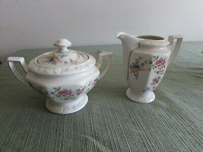 "Vtg. Rare ROSENTHAL ""Maria"" Selb Germany Floral Creamer and Sugar with Lid EXC"