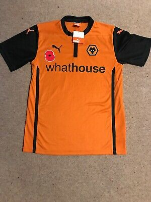 Wolves Football Shirt Wolverhampton Wanderers Medium Puma Rare Poppy
