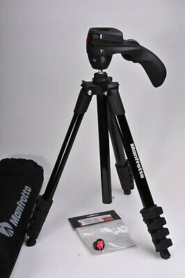 Manfrotto MKCOMPACTACN-BK Compact Action Tripod
