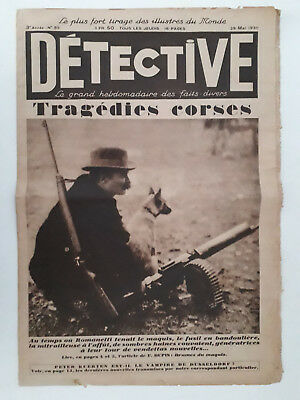 Journal DETECTIVE n°83 (1930) AL CAPONE Chicago - Massacre de la St Valentine