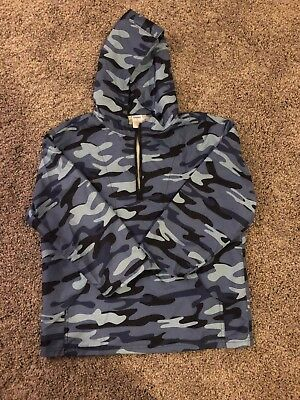 f0118201dad49 GYMBOREE BOYS 3/4 Zip Pullover Jacket With Hood - Size S (5-6 ...