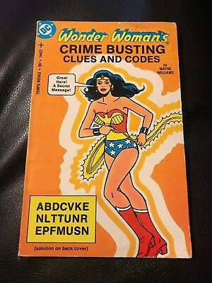 Wonder Woman's Crime Busting Clues And Codes, Tempo Books Paperback 1978