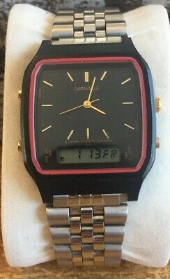 305fb9d74 Caravelle by Bulova T3 Chronograph Men's Digital Watch Gold and Black And  Red