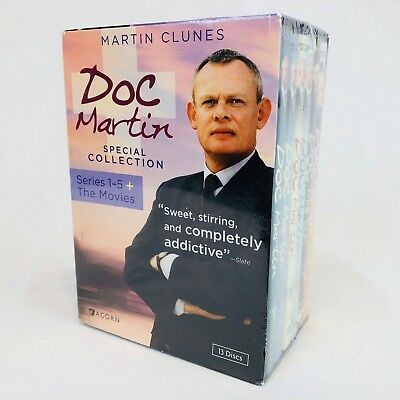 New Sealed Doc Martin Special Collection Series 1-5 + The Movies 13 DVD Box Set