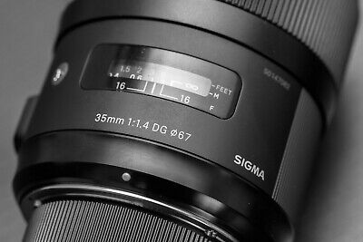 Sigma DG 35mm F/1.4 HSM DG Lens for Nikon F Mount, excellent condition
