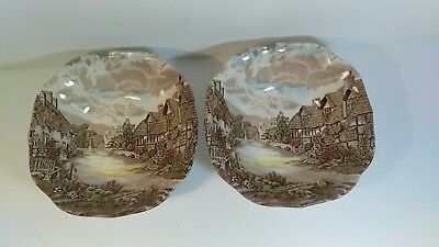 """Vintage Johnson Brothers Old English Countryside Cereal Bowls 6 3/4"""""""