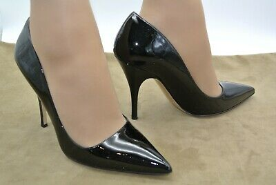 75e482b0d7 EUC 8M KATE SPADE Black Patent Leather Heels Pumps Shoes LICORICE with Box