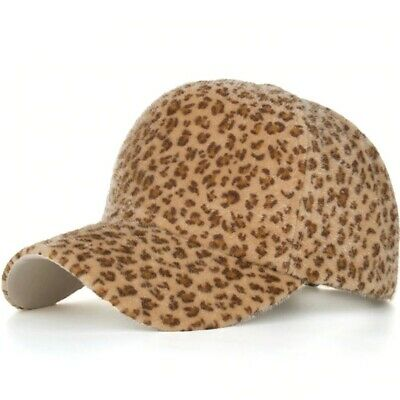 AKIZON Womens Baseball Cap Leopard Print Winter Fashion Adjustable Hat Cute Caps