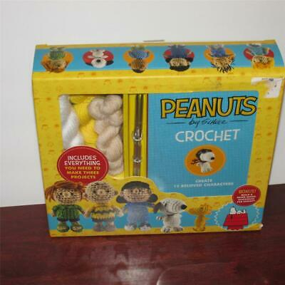 Peanuts Crochet Kit Schulz 12 Characters New Complete Snoopy Woodstock Brown E2