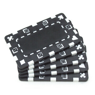 10 Black 32g Blank Rectangular Square Poker Chips Plaques New- Buy 2, Get 1 Free
