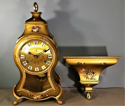 "Swiss ""Palais Royal"" Neuchatel Bell Strike Mantel/Shelf Clock, Working order"