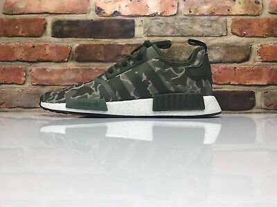 1c171d8b2 Adidas NMD R1 Duck Camo Sesame Trace Cargo Steel Base Green D96617 Size 11  Mens