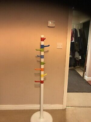 Ikea Krokig Children Kids Clothes Coat Hat Stand White Multicolour
