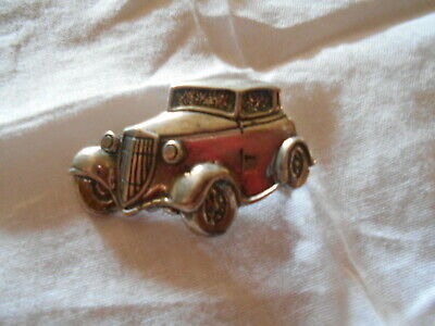 1933 34 Ford Coupe Hot Rod Hat Pin Brooch Cast in Solid Silver One of Ten made