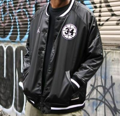 acb2a18b0a27 Nike Air Jordan He Got Game Retro Satin Varsity Jacket Size 3XL Black  AR1169 010