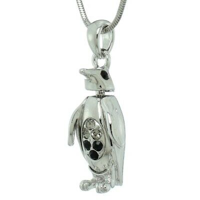 PENGUIN Made With Swarovski Crystal Black Pendant Animal Necklace Jewelry